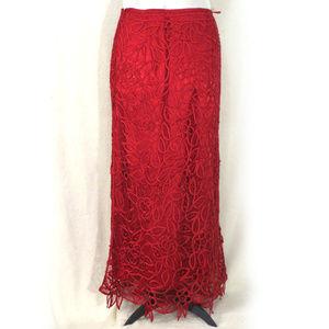 Silken Poetry 100% Silk Lace Overlay Skirt